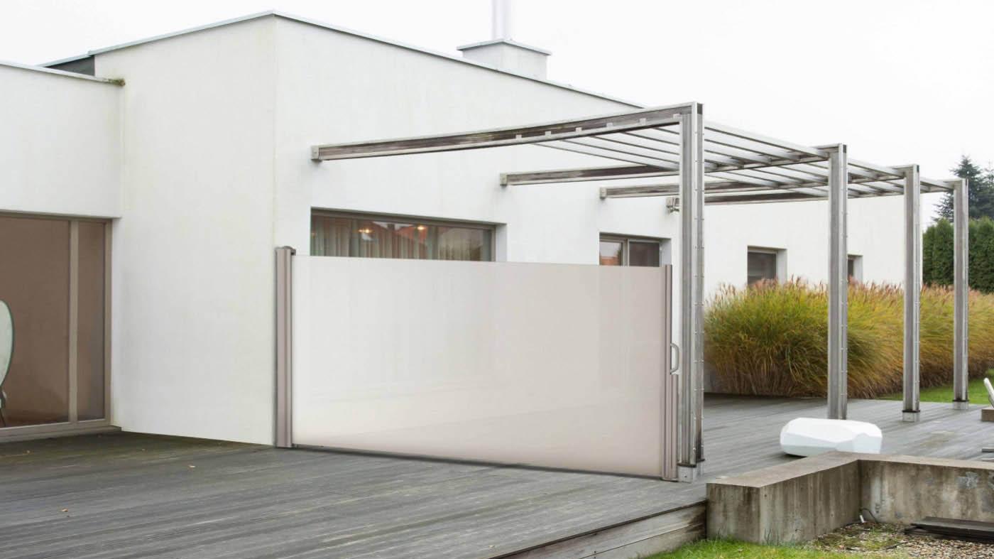 Toldo cofre cortina lateral de lineas modernas