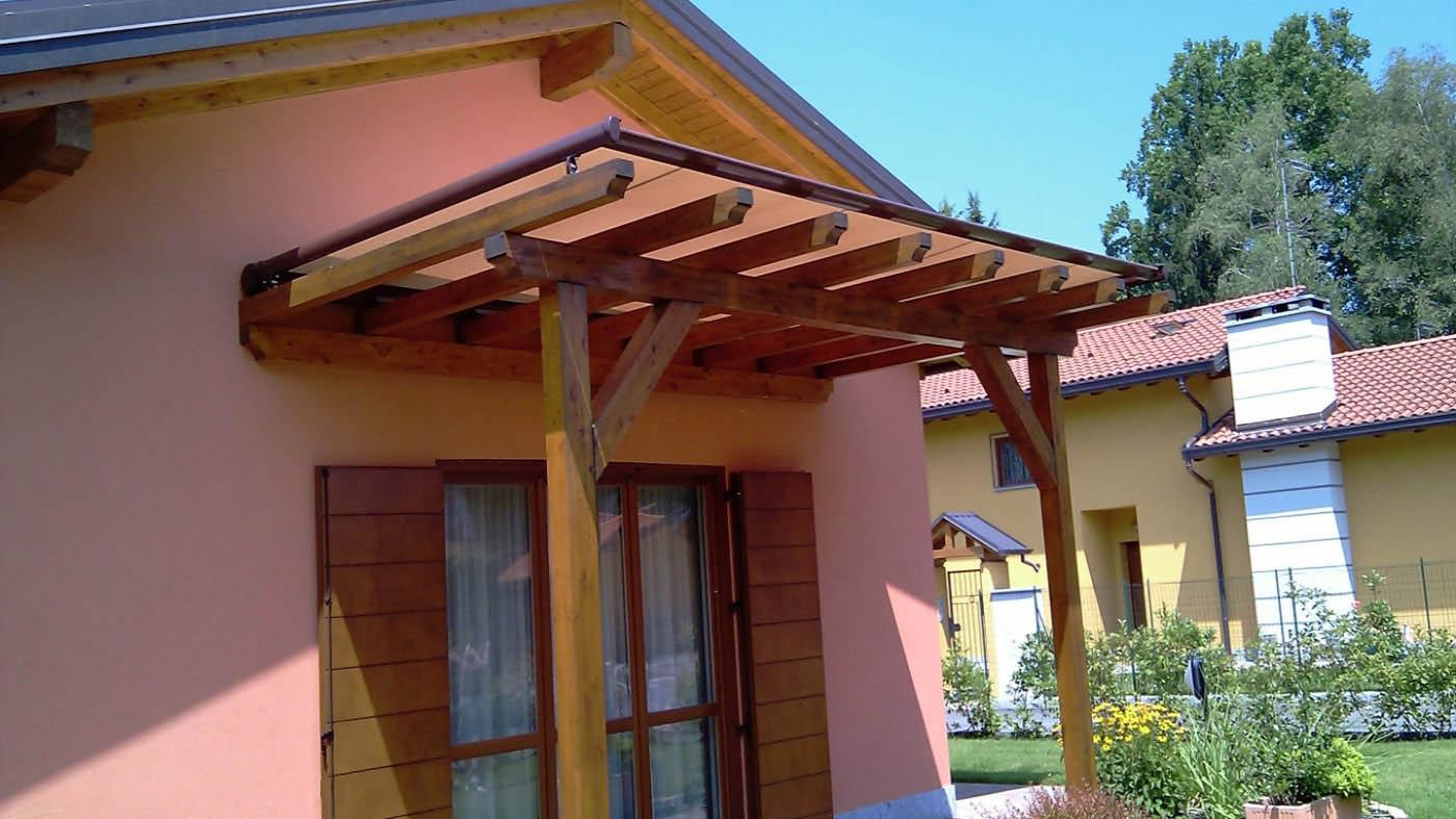 toldo horizontal veranda neo con lona acrilica y lacado color burdeos